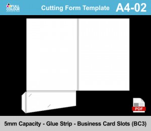 A4 presentation folder template A4-02.