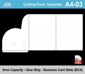 A4 presentation folder template A4-03.