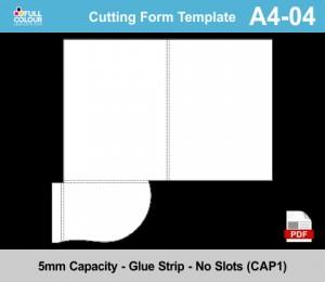 A4 presentation folder template A4-04.