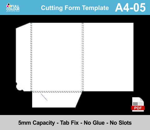 A4 presentation folders template A4-05.