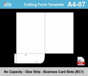 A4 presentation folder template A4-07.