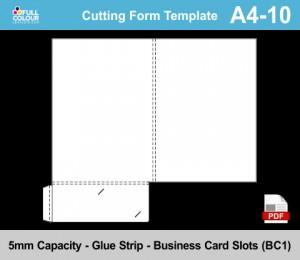 A4 presentation folder template A4-10.